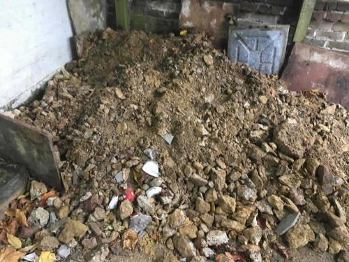 Rubble and Soil Build Up